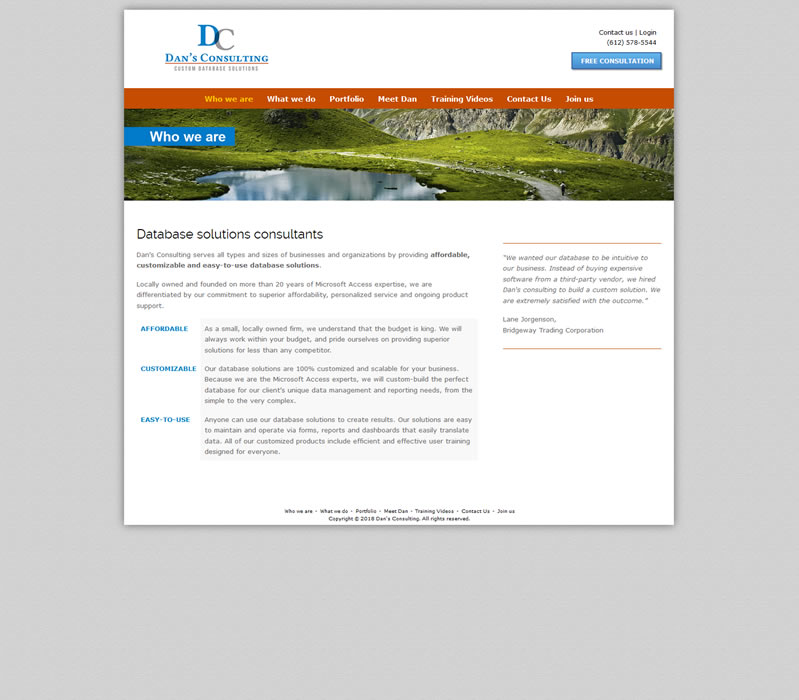Dan's Consulting - Database Solutions Consultants