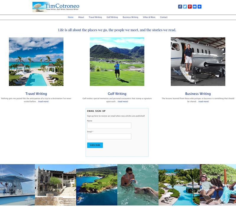 Tim Cotroneo: Travel Writer, Business Writer, Golf Writer